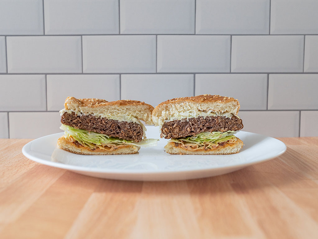 Beyond Burger 2020 reformulation air fried cross section