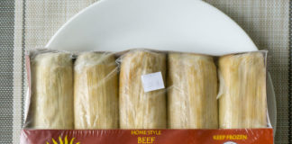 Chapparo's Beef Tamales package frozen