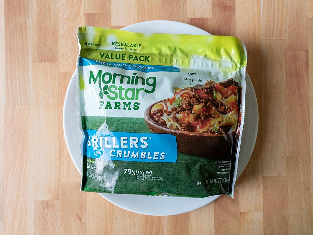 MorningStar Farms Grillers Crumblers 2020 package