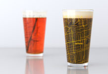 Uncommon Green Berkeley pint glasses