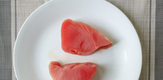 Walmart Premium Ahi Tuna Steaks defriosted