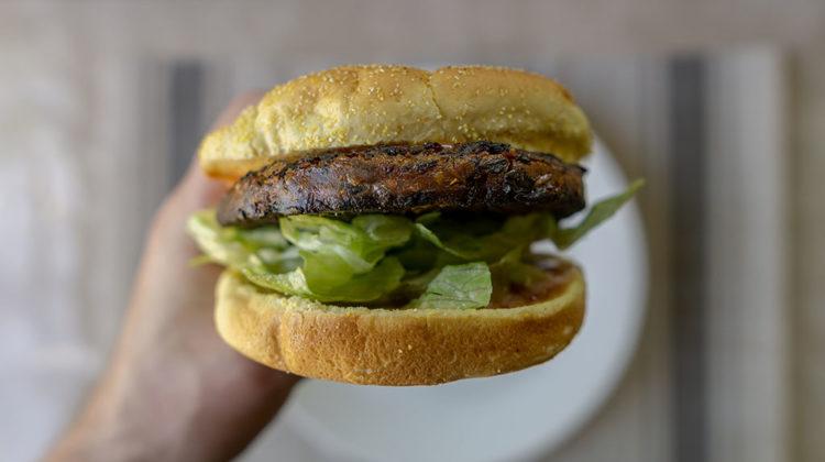 Sweet Earth Sante Fe Veggie Burger close up
