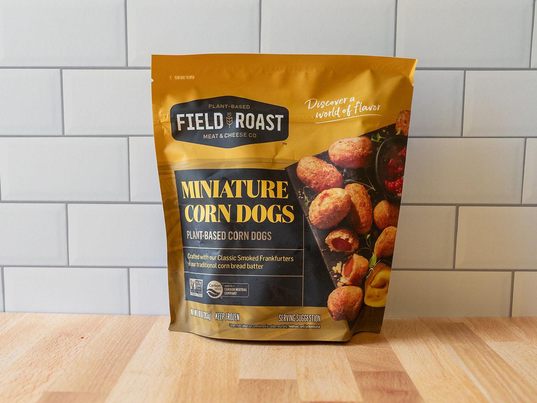 Field Roast Miniature Corn Dogs 2021 package