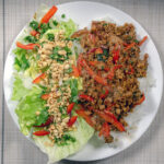 Vegan larb with salad