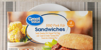 Great Value BBQ Pork Rib Sandwiches