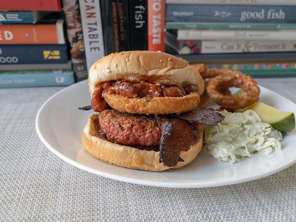 Western BBQ burger with Beyond Burger