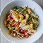 Cobb salad with gardein seven grain tenders