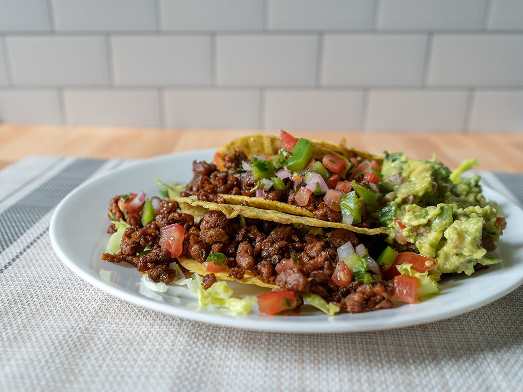 Beyond Meat Beyond Beef - tacos close up