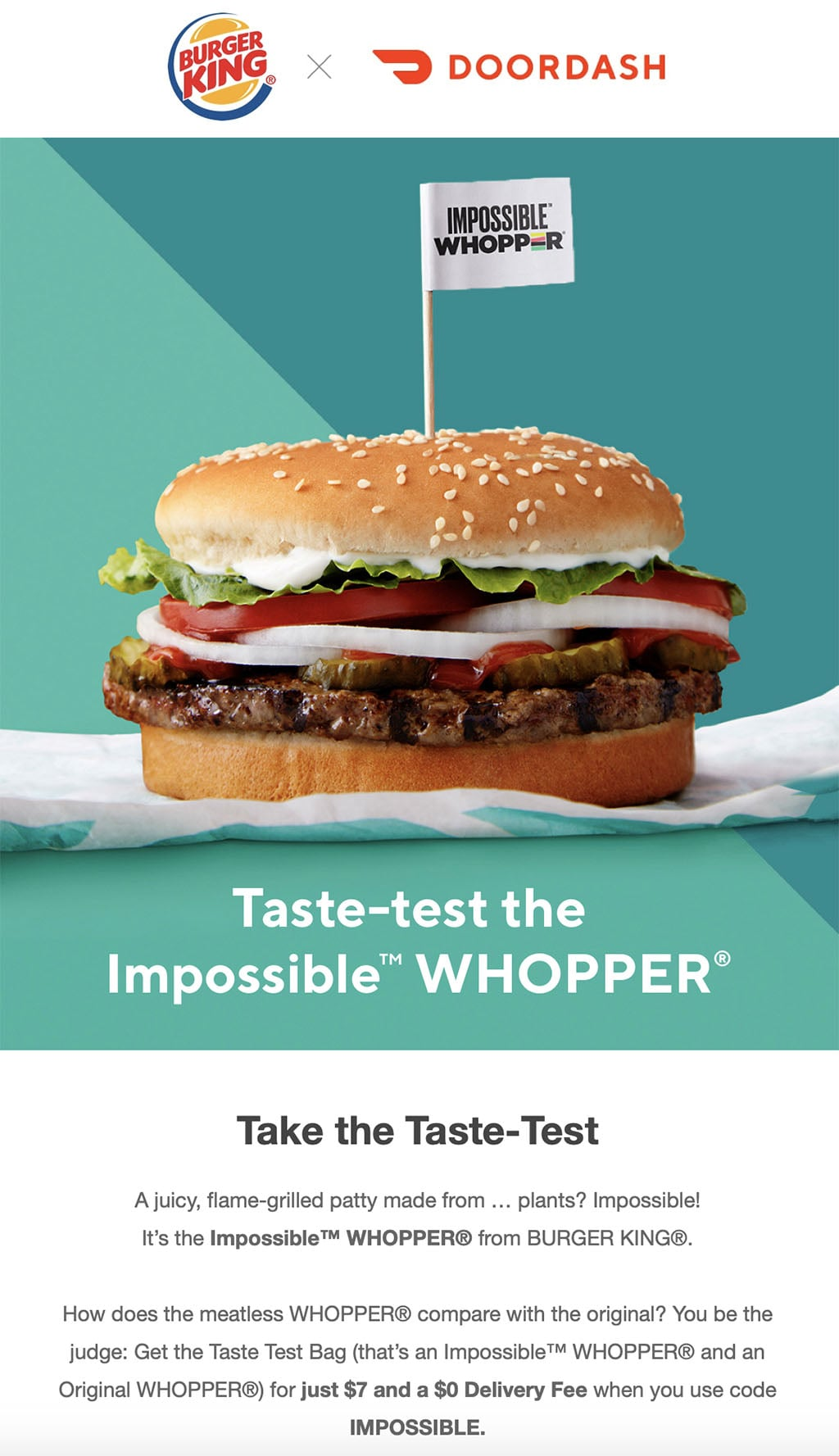 Impossible taste test (DoorDash)