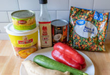 Thai yellow curry ingredients