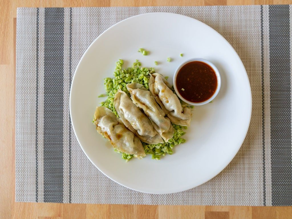 Whole Foods Vegetable Potstickers with seapoint farms edamame