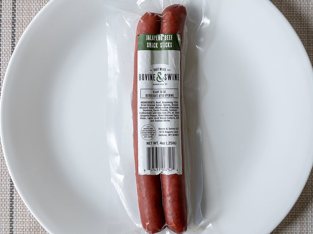 Bovine And Swine jalapeno beef snack stick