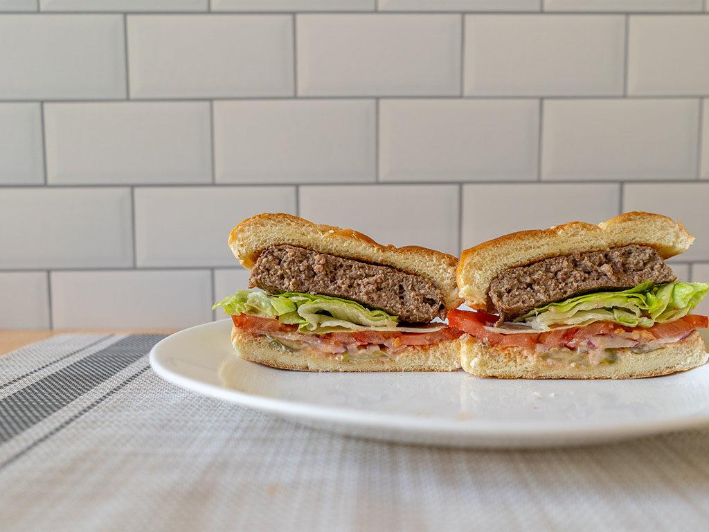 Sams Choice Angus Beef Burgers cross section