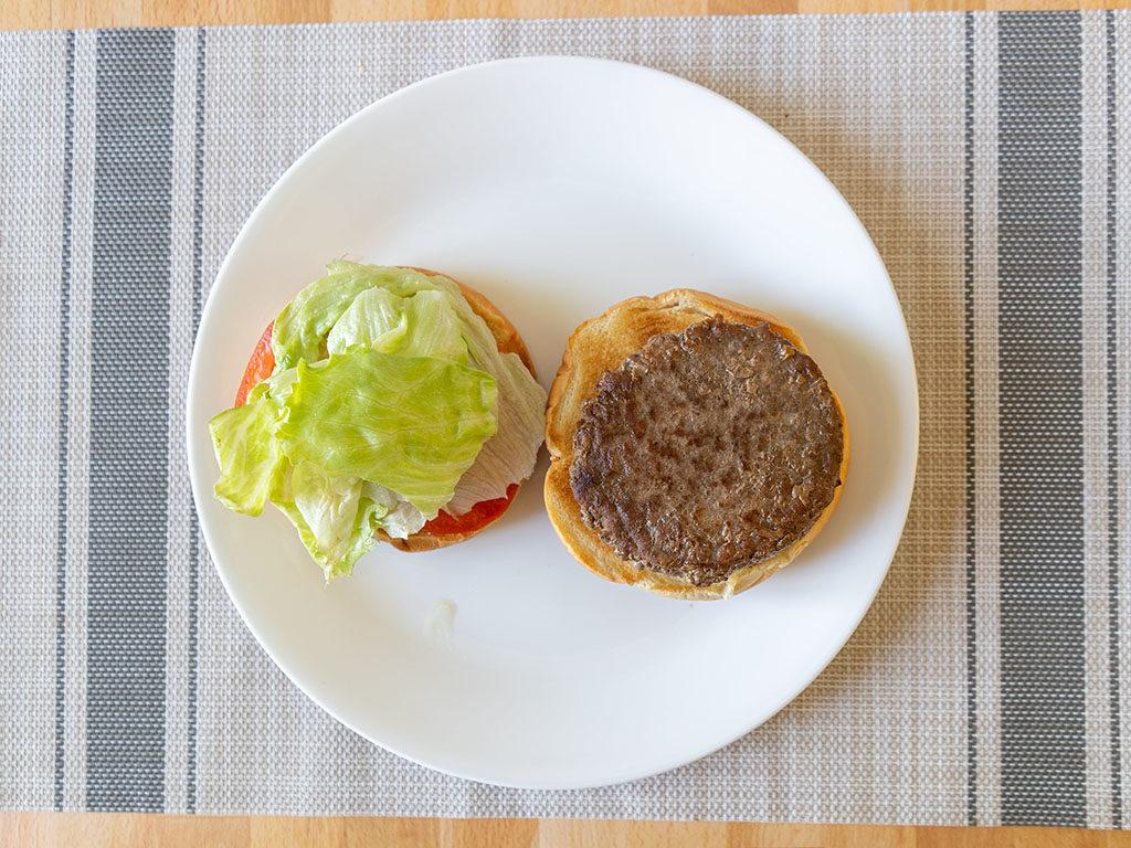 Sams Choice Angus Beef Burgers on a bun