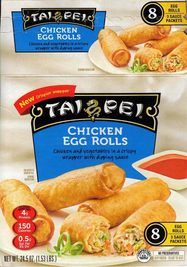Tai Pei Chicken Egg Rolls packaging