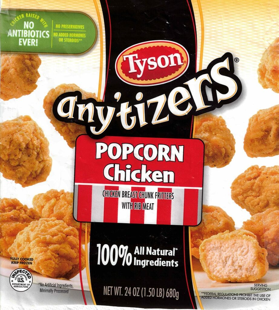 Tyson Anytizers Popcorn Chicken package front