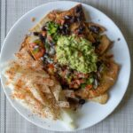 Air fried nachos with jicama