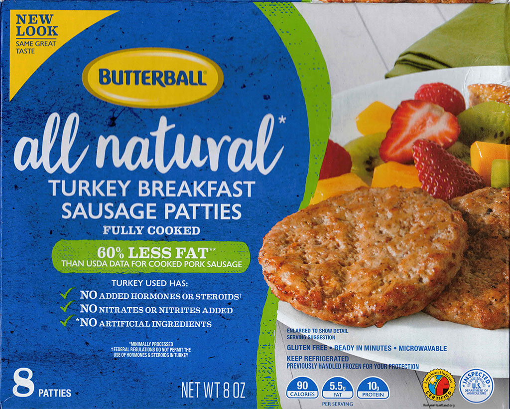 Butterball Turkey Breakfast Sausage Patties package front