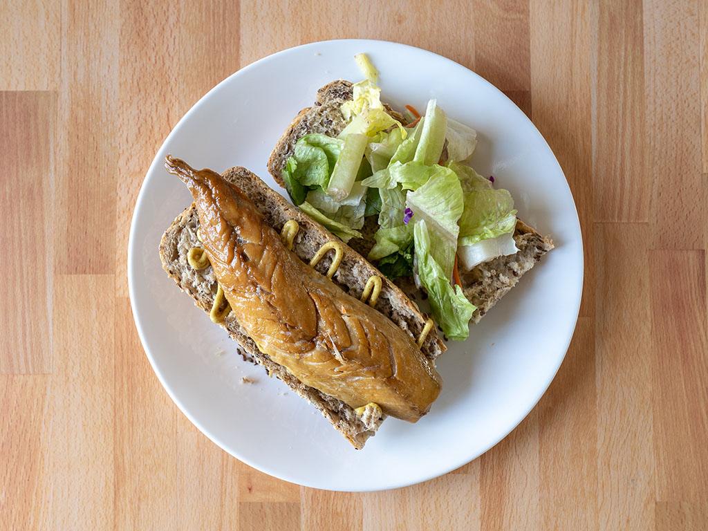 Ducktrap Smoked Wild Mackerel Fillet sandwich