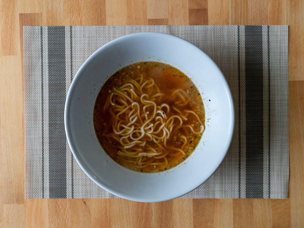 One Culture Foods Japanese Spicy Ramen cooked top down
