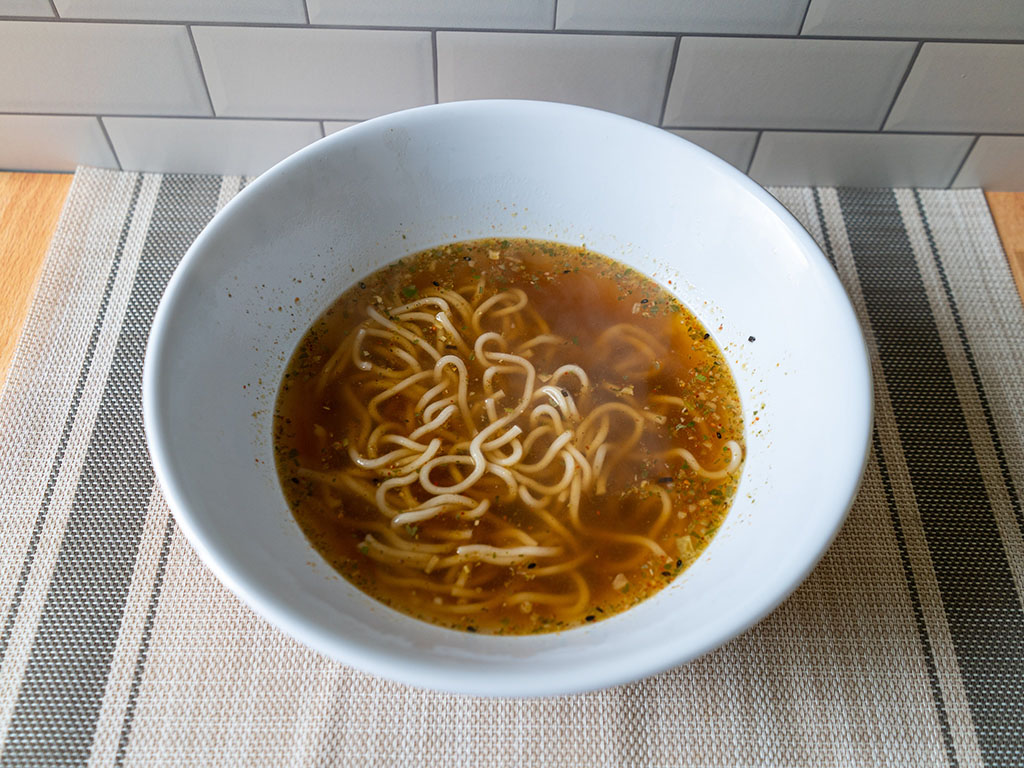 One Culture Foods Japanese Spicy Ramen cooked