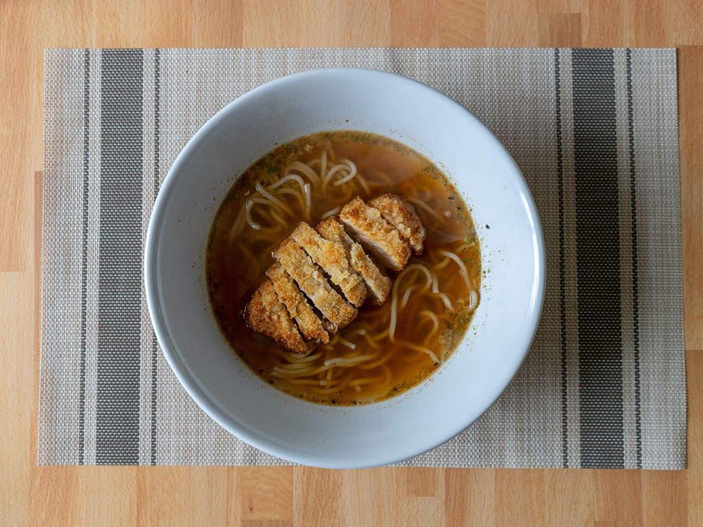 One Culture Foods Japanese Spicy Ramen with pork tonkatsu