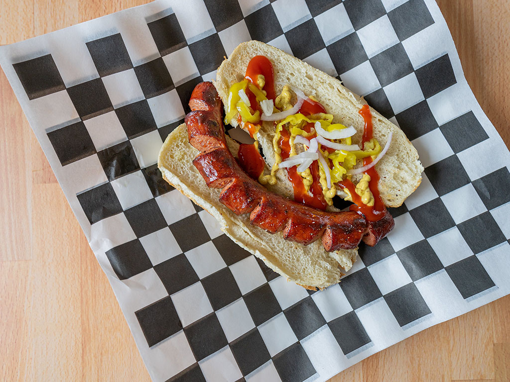 Costco Kirkland Beef Polish Sausage cooked