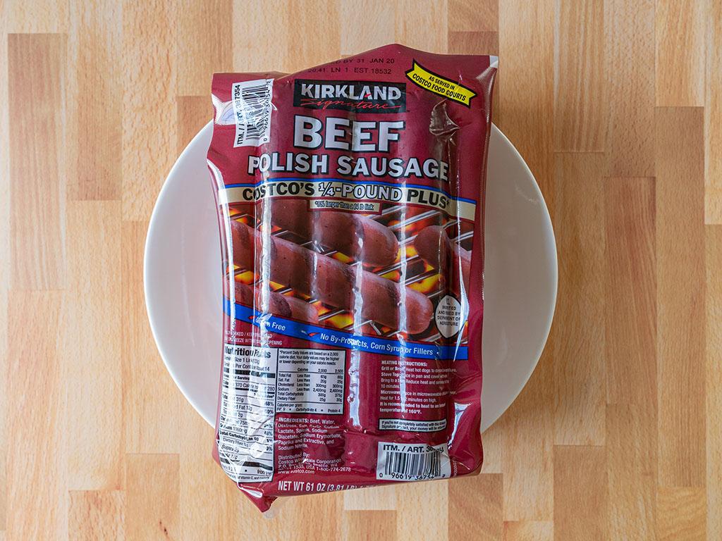 Costco Kirkland Beef Polish Sausage