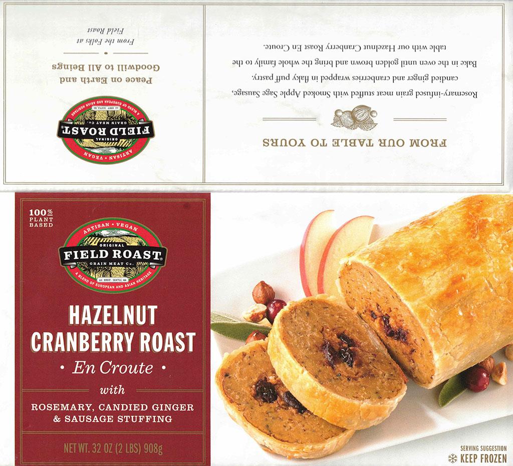 Field Roast Hazelnut Cranberry Roast package front
