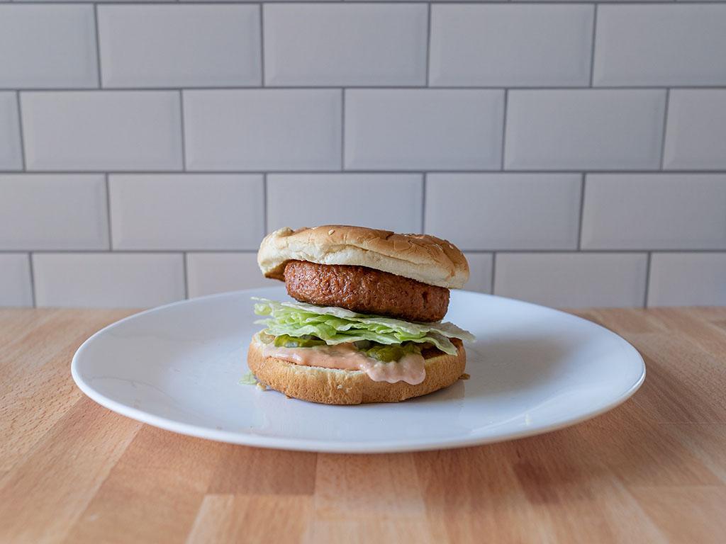 Simple Truth Emerge Plant Based Patties burger