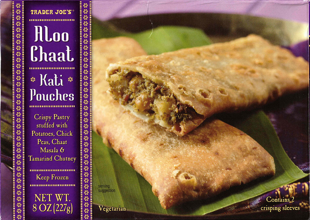 Trader Joe's Aloo Chaat Kati Pockets package front