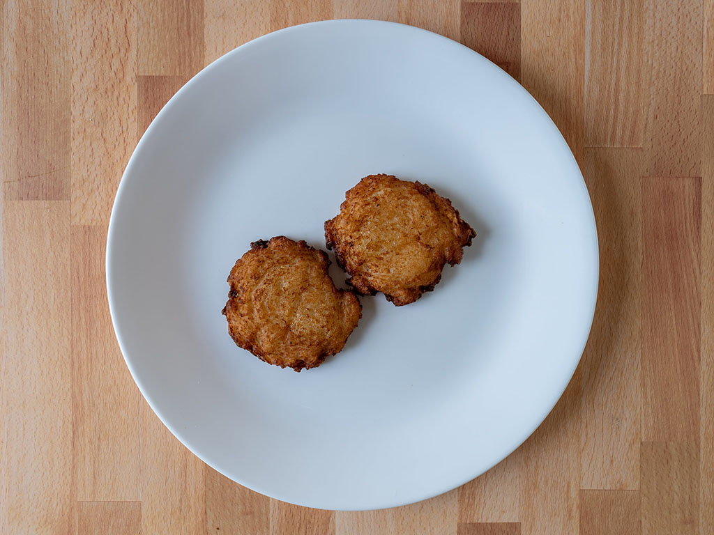 Trader Joe's Traditional Latkes air fried