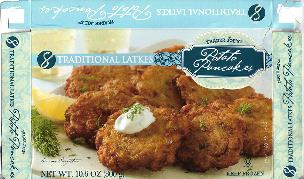 Trader Joe's Traditional Latkes package front