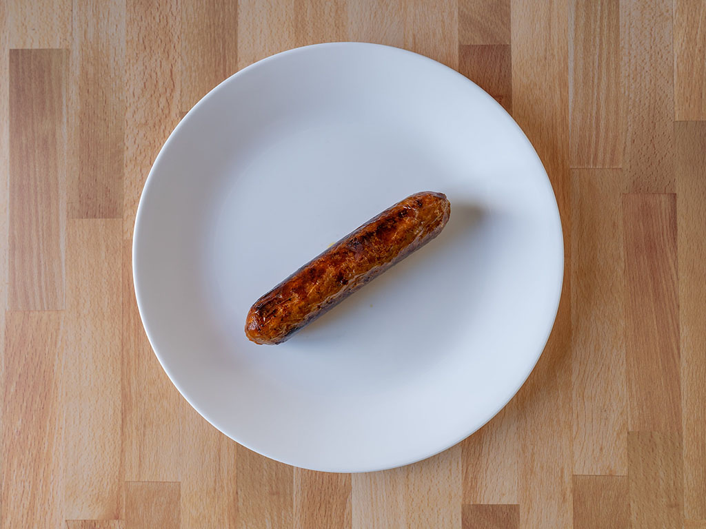 Air fried Lightlife Plant Based Sausage