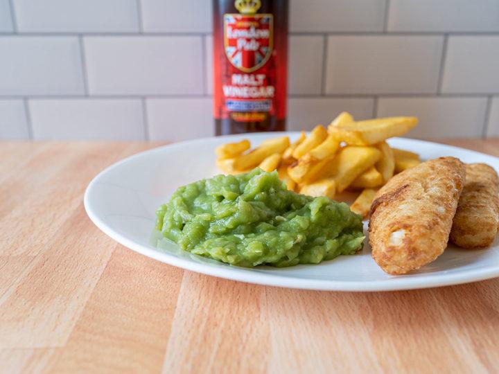 Mushy peas fish and chips