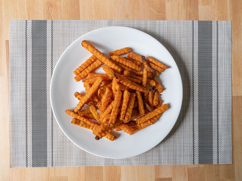 Alexia Crinkle Cut Sweet Potato Fries cooked