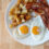 Bacon, eggs, breakfast potatoes