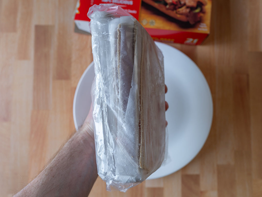 Steak-umm Sliced Steaks frozen in hand