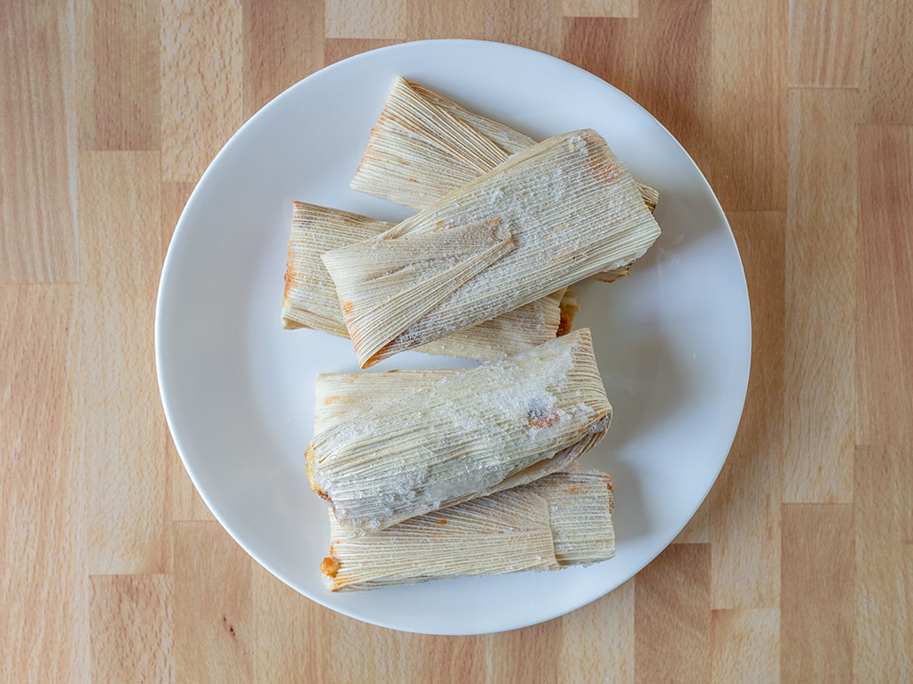 Buenatural Vegan Tamales whats in the bag