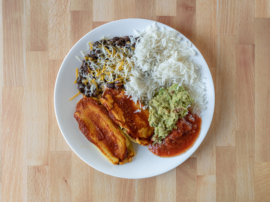 Buenatural Vegan Tamales with rice, beans, guac