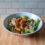 Buffalo salad with MorningStar Farms Nuggets