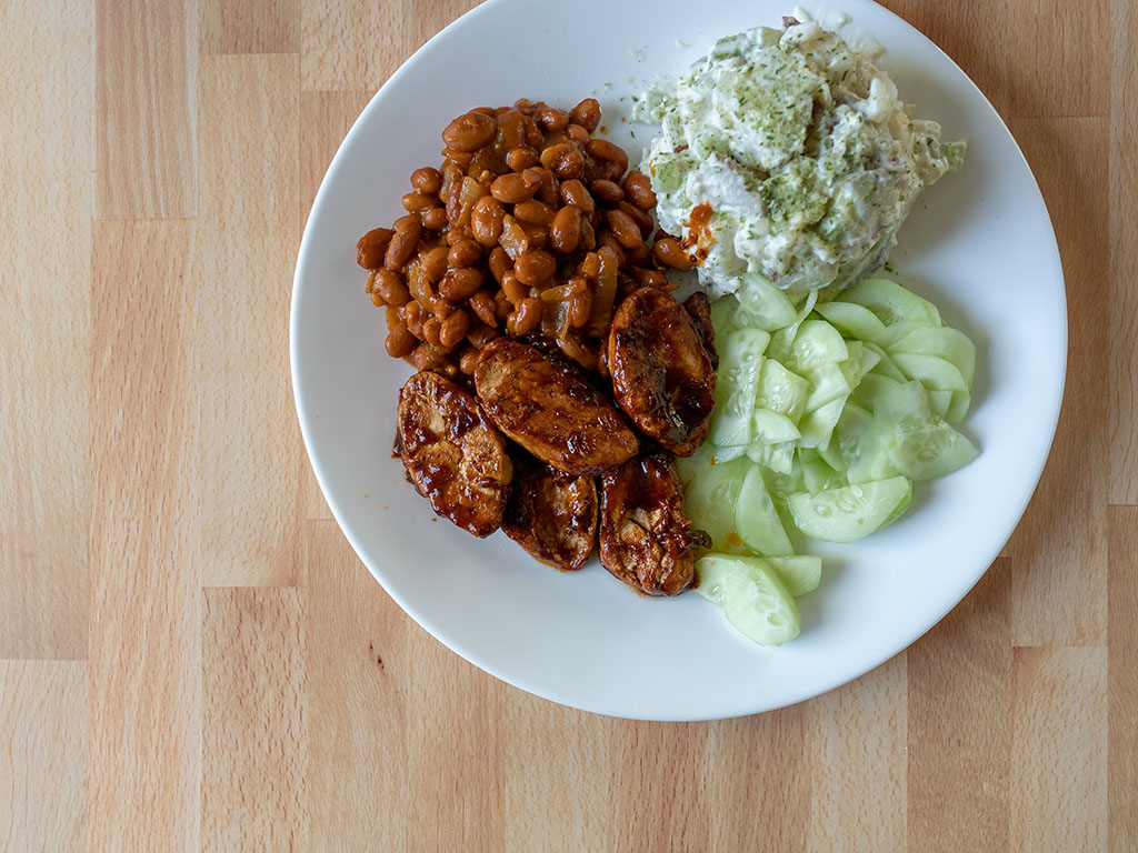 Gardein Sweet And Tangy Barbecue Wings closer look