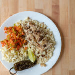 Jamaican jerk cod with cous cous