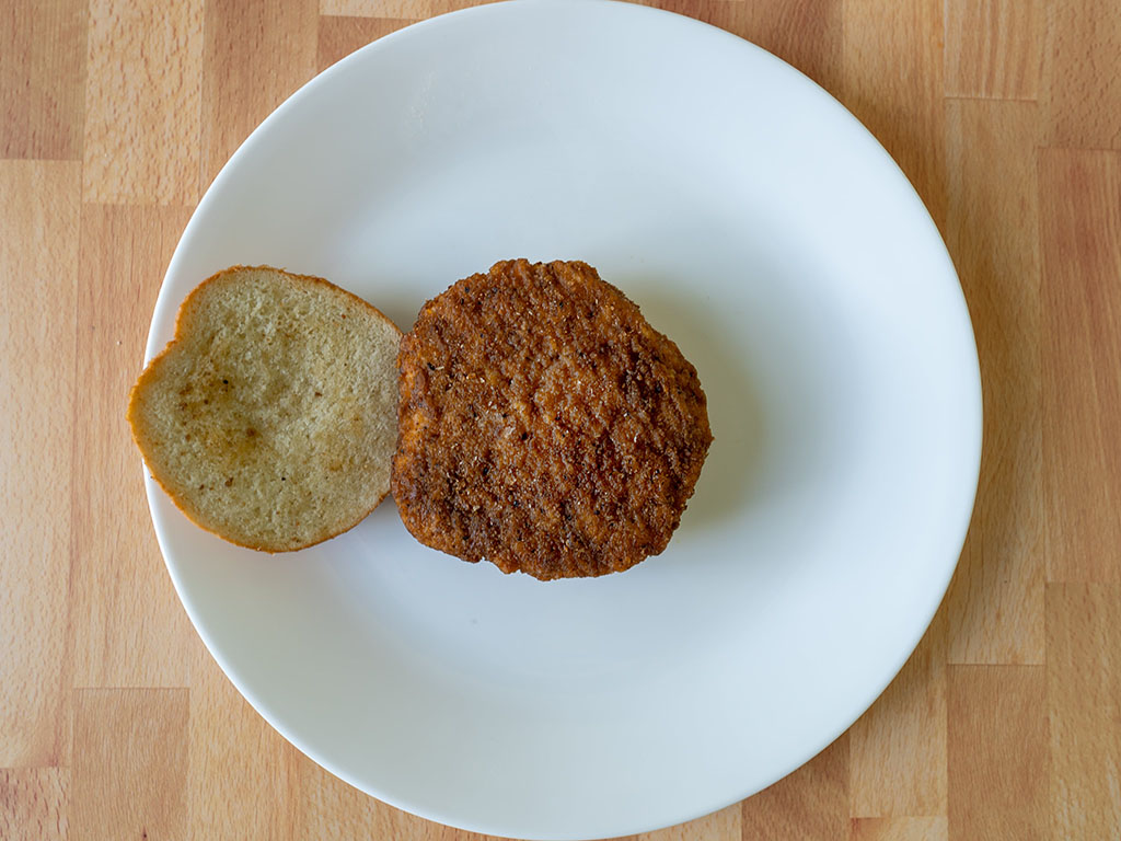 Kroger Microwaveable Chicken Sandwich cooked inside