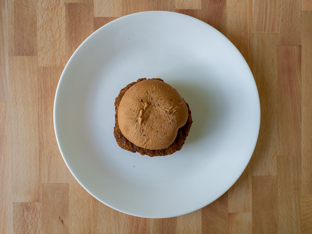 Kroger Microwaveable Chicken Sandwich cooked