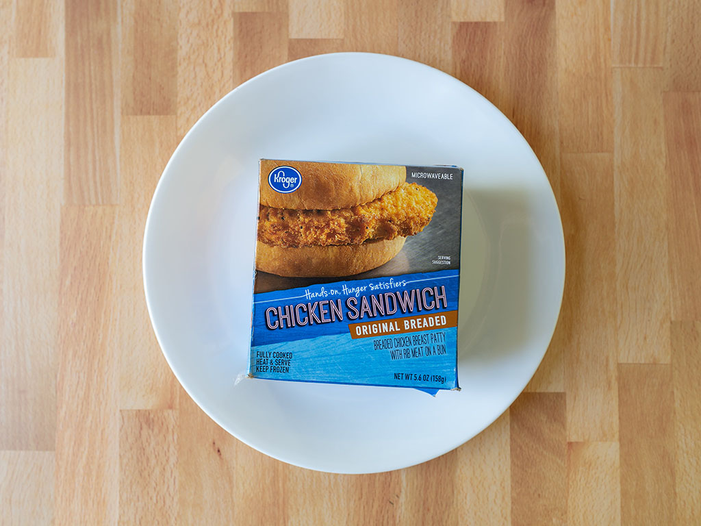 Kroger Microwaveable Chicken Sandwich