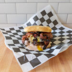 Pastrami burger with Simple Truth Natural Beef Burgers