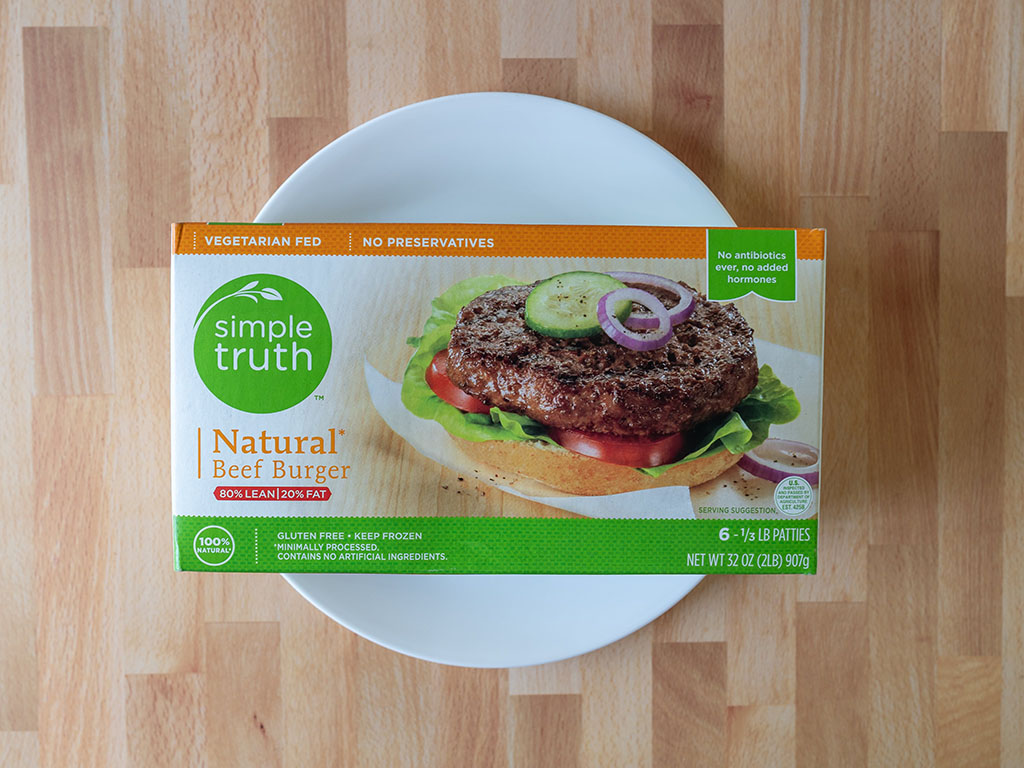 Simple Truth Natural Beef Burgers
