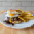 Teriyaki mushroom and egg burger