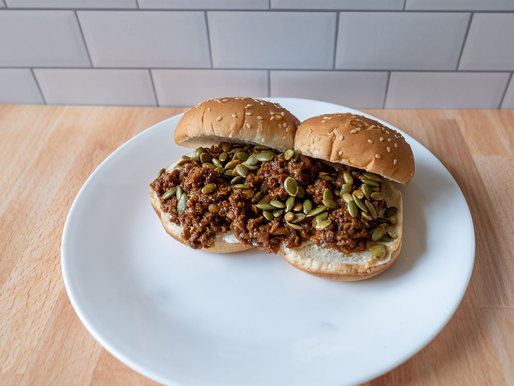 Sloppy Joes with MorningStar Farms Crumblers
